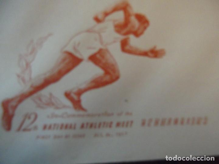 "Sellos: Sello de China 1957 En sobre conmemorativo Juegos Olímpicos "" football Americano "" en matasellos - Foto 3 - 265326339"