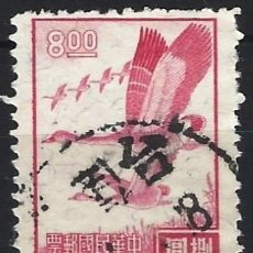 Sellos: CHINA / TAIWAN 1966 - GANSOS SALVAJES EN VUELO - USADO. Lote 266831754