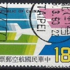 Sellos: CHINA / TAIWAN 1987 - CORREO AÉREO - USADO. Lote 266841224