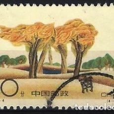 Sellos: REP. POP. CHINA 1994 - REVERDECER EL DESIERTO, PLANTACIÓN DE ÁRBOLES - USADO. Lote 267450079