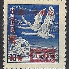 Selos: CHINA DEL NOROESTE 1950 - SOBRECARGADO - CISNES SALVAJES, AZUL - MNH SIN GOMA. Lote 268983219