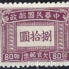 Sellos: CHINA, IMPERIAL 1947 - SELLO DE FRANQUEO, 80$ PÚRPURA - MH SIN GOMA. Lote 268993379
