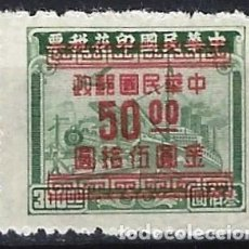 Sellos: CHINA IMPERIAL 1949 - SELLO FISCAL, SOBRECARGADO - MNH SIN GOMA. Lote 269192248
