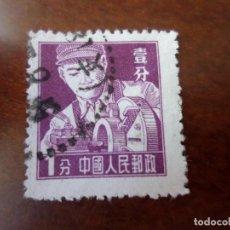 Selos: CHINA, 1956, OFICIOS, TORNERO, YVERT 1063. Lote 292079753