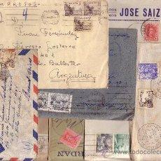 Sellos: ESPAÑA. LOTE DE 9 SOBRES CIRCULADOS. CORREO AÉREO. IMPRESOS. BONITOS.. Lote 25901261