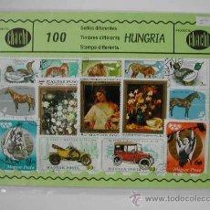 100 SELLOS USADOS DE HUNGRIA