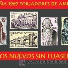 Sellos: ESPAÑA LOTE SELLOS - 1969 S. FORJADORES AMERICA (UNIFICO ENVIOS AHORRA GASTOS COMPRANDO MAS SELLO). Lote 16014477