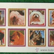 Sellos: LOTE HOJA NUEVA 8 SELLOS TEMATICA PERROS - OCASION (AHORRA GASTOS COMPRANDO MAS SELLO) ANIMALES. Lote 16118101