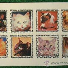 Sellos: LOTE HOJA NUEVA 8 SELLOS TEMATICA GATOS - OCASION (AHORRA GASTOS COMPRANDO MAS SELLO) ANIMALES. Lote 16118152