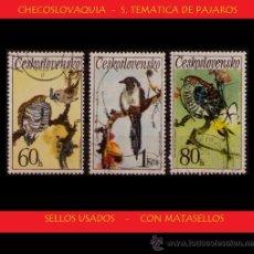 Timbres: LOTE SELLOS - CHECOSLOVAQUIA - TEMATICA PAJAROS - AVES (AHORRA GASTOS COMPRANDO MAS SELLO) ANIMALES. Lote 16269412