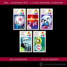 Sellos: LOTE SELLOS DDR - ALEMANIA 1973 - S. X FESTIVAL MUNDIAL JUVENTUD (AHORRA GASTOS COMPRANDO MAS SELLO). Lote 16334976