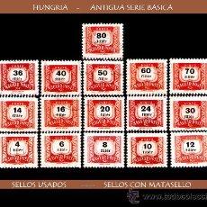 Sellos: LOTE SELLOS - HUNGRIA - ANTIGUA SERIE BASICA (AHORRA GASTOS COMPRANDO MAS SELLO). Lote 16495137