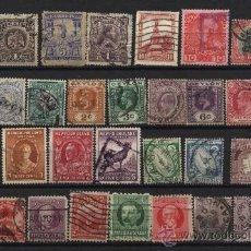 Sellos: 34 SELLOS ANTIGUOS DE MEJICO CUBA NEW FOUNLAND AUSTRIA SUDAFRICA EIRE JAMAICA CEILAN . Lote 26978922