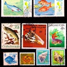 Timbres: LOTE SELLOS TEMATICA FAUNA MARINA / PECES / ANIMALES (AHORRA GASTOS COMPRANDO MAS SELLO). Lote 18664813