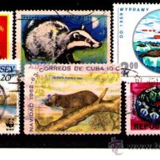 Timbres: LOTE SELLOS TEMATICA FAUNA / ANIMALES (AHORRA GASTOS COMPRANDO MAS SELLO). Lote 18664984