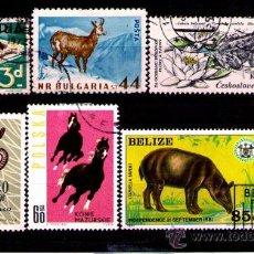 Timbres: LOTE SELLOS TEMATICA FAUNA / ANIMALES (AHORRA GASTOS COMPRANDO MAS SELLO). Lote 18665001