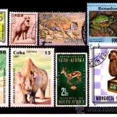 Timbres: LOTE SELLOS TEMATICA FAUNA / ANIMALES (AHORRA GASTOS COMPRANDO MAS SELLO). Lote 18665008