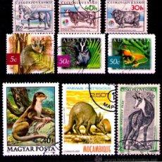 Timbres: LOTE SELLOS TEMATICA FAUNA / ANIMALES (AHORRA GASTOS COMPRANDO MAS SELLO). Lote 18665022
