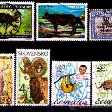 Timbres: LOTE SELLOS TEMATICA FAUNA / ANIMALES (AHORRA GASTOS COMPRANDO MAS SELLO). Lote 18665041