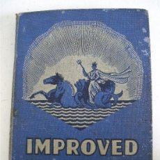 Sellos: ALBUM INGLES DE SELLOS : IMPROVED POSTAGE STAMP ALBUM (50 PAGINAS CON SELLOS INTERNACIONALES). Lote 221759800