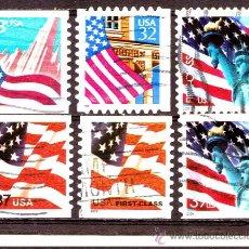 Sellos: LOTE SELLOS USA - ESTADOS UNIDOS / BANDERAS (AHORRA GASTOS COMPRANDO MAS SELLO). Lote 18806163