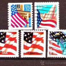 Sellos: LOTE SELLOS USA - ESTADOS UNIDOS / BANDERAS (AHORRA GASTOS COMPRANDO MAS SELLO). Lote 18806479