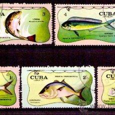 Timbres: LOTE SELLOS CUBA ANIMALES / FAUNA MARINA / PECES (AHORRA GASTOS COMPRANDO MAS SELLO). Lote 18806577