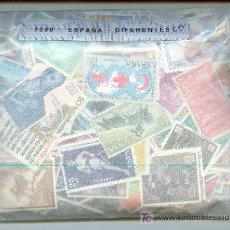Sellos: 1000 SELLOS DIFERENTES ESPAÑOLES. EN GENERAL BUENA CALIDAD.. Lote 25751316