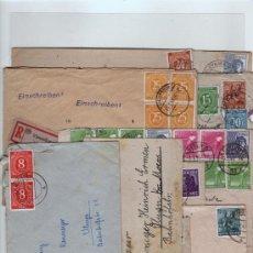 Sellos: ALEMANIA GERMANY 10 SOBRES 1947/48 OCUPACIÓN ALIADA. Lote 30003244