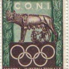 Sellos: VIÑETAS CONMEMORATIVAS EXPOSICIÓN INTERN. DE SELLO DEPORTIVO DE ROMA (1952). Lote 32552220