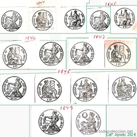 RESTO DE COLECCION DE SELLOS FISCALES DE ESPAÑA. APROX. CATº +3.230 € VER 20 PLANCHAS Y CONDICIONES. (Sellos - Colecciones y Lotes de Conjunto)