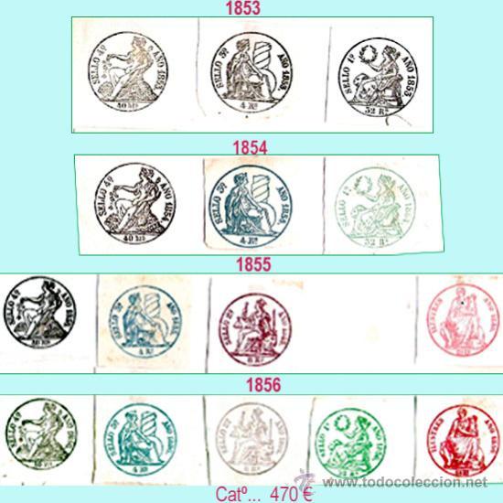 Sellos: Plancha III.- Lote con 14 piezas. Su precio 212 € - Foto 3 - 32969815