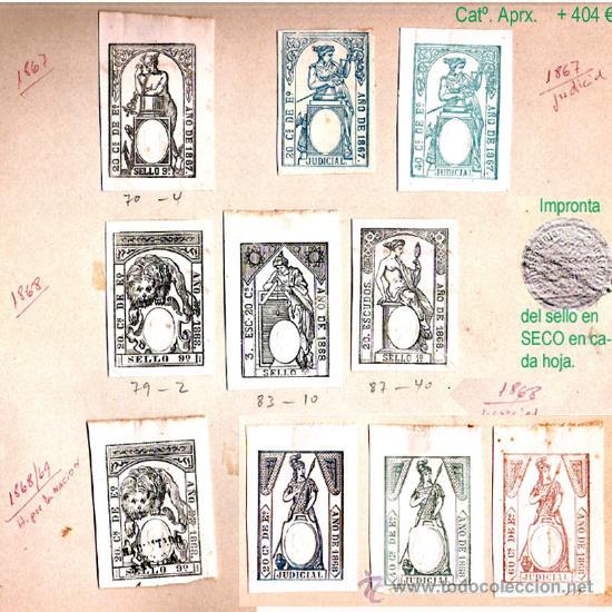 Sellos: Plancha VIII.- Lote con 10 piezas. Su precio 182 € - Foto 8 - 32969815