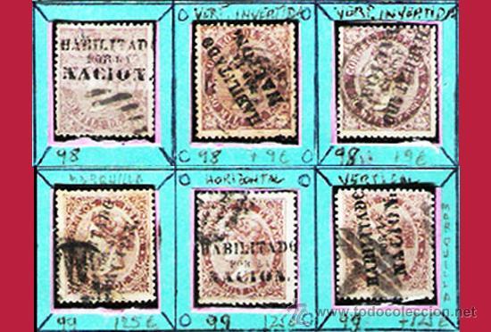 Sellos: 1868. GBNO. PROVISIONAL -HAB. POR LA NACION- 22 SELLOS,NUEVOS,USADOS+VARIANTES de MADRID.Cat.1919 € - Foto 6 - 34188680