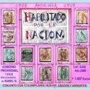 Sellos: 1868.GBNO. PROVISIONAL -HAB. POR LA NACION- 12 PZAS,NUEVOS,USADOS+ VARIANTS DE ANDALUCIA. CAT.1627 €. Lote 34196204