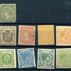 Briefmarken - 14 sellos diferentes clásicos de España y colonias. Falsificación Seguí - 34636283