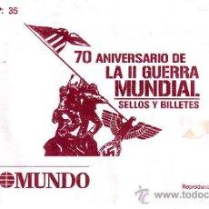 Briefmarken - 70 ANIVERSARIO DE LA SEGUNDA GUERRA MUNDIAL.SELLOS Y BILLETES.ENTREGA NR.35.VER FOTOS ADICIONALES. - 36683745