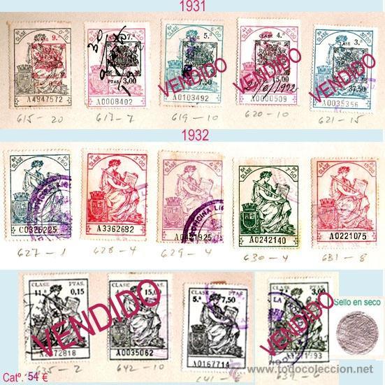 Sellos: Plancha XVI - Lote con 8 piezas. Precio 27 € - Foto 19 - 32969815