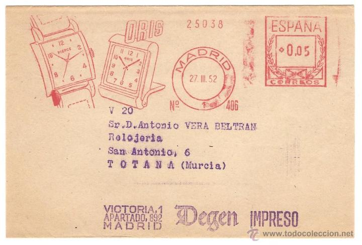 Sellos: RELOJERÍA - LOTE DE 4 CARTAS O TARJETAS POSTALES DE EMPRESAS DE RELOJERÍA ANTIGUOS - Foto 2 - 40717167