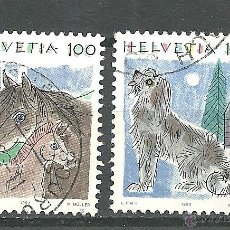 Sellos: YT 1419-20 SUIZA 1993 ANIMALES (IV). Lote 210342041