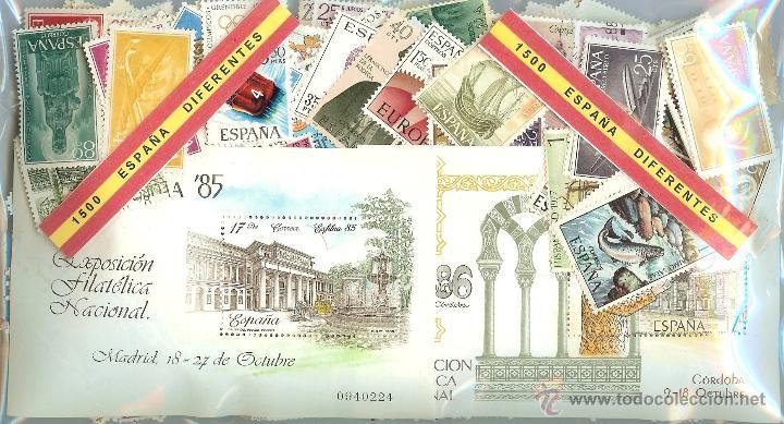 1500 SELLOS DIFERENTES DE ESPAÑA (Sellos - Colecciones y Lotes de Conjunto)