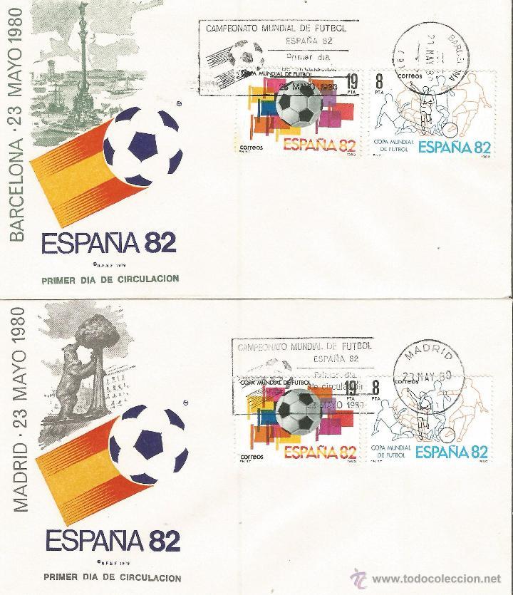 ESPAÑA SOBRES PRIMER DIA CAMPEONATO MUNDIAL DE FUTBOL ESPAÑA 82 CON MATASELLOS DE TODAS LAS SEDES (Sellos - Colecciones y Lotes de Conjunto)