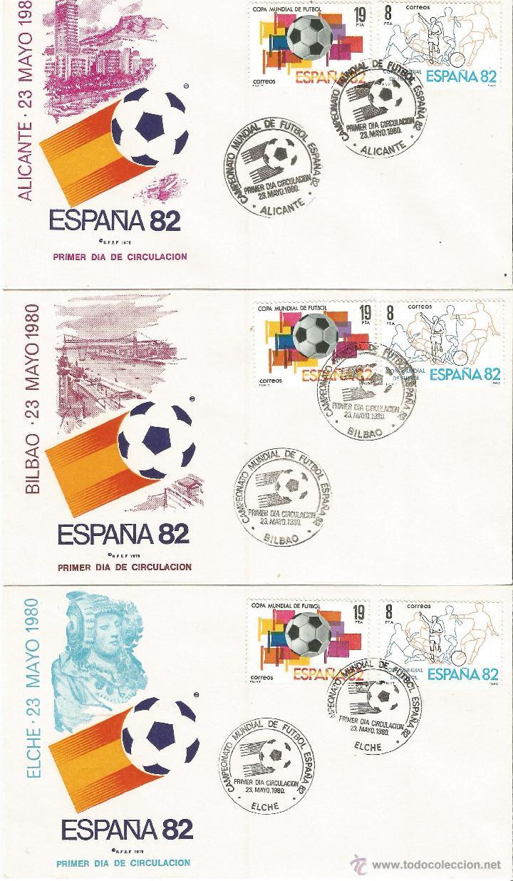 Sellos: ESPAÑA SOBRES PRIMER DIA CAMPEONATO MUNDIAL DE FUTBOL ESPAÑA 82 CON MATASELLOS DE TODAS LAS SEDES - Foto 2 - 50638877