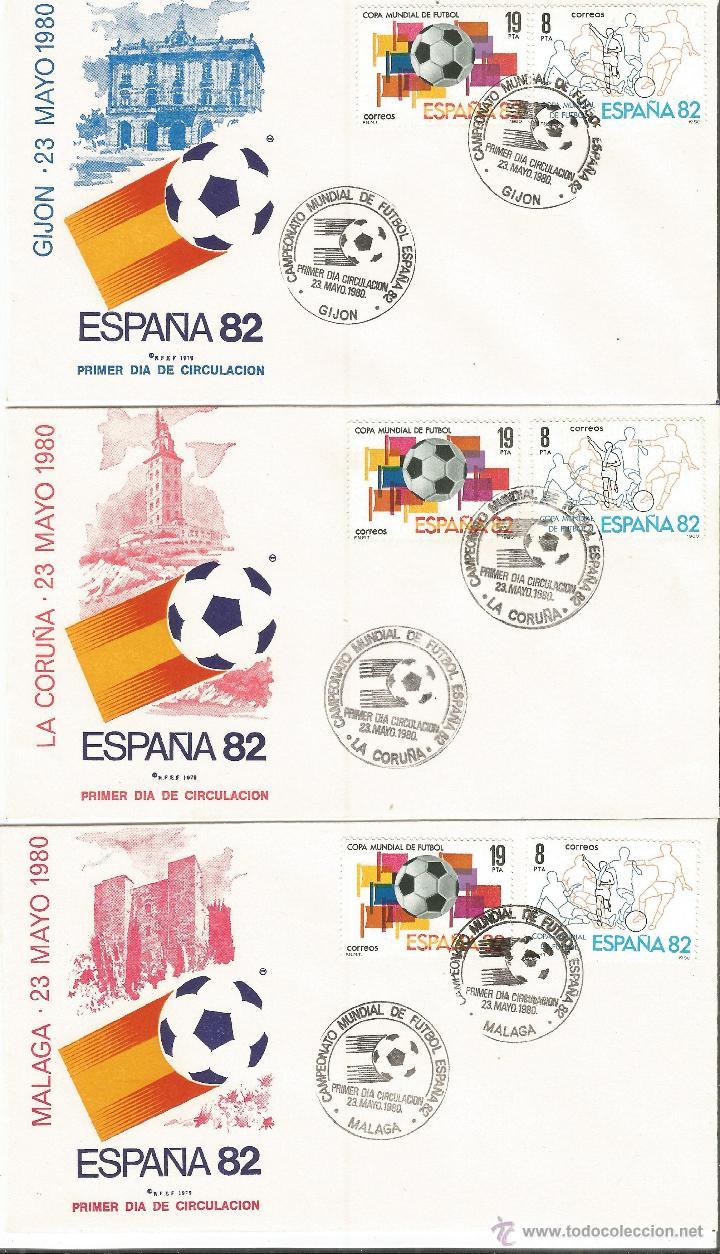 Sellos: ESPAÑA SOBRES PRIMER DIA CAMPEONATO MUNDIAL DE FUTBOL ESPAÑA 82 CON MATASELLOS DE TODAS LAS SEDES - Foto 3 - 50638877