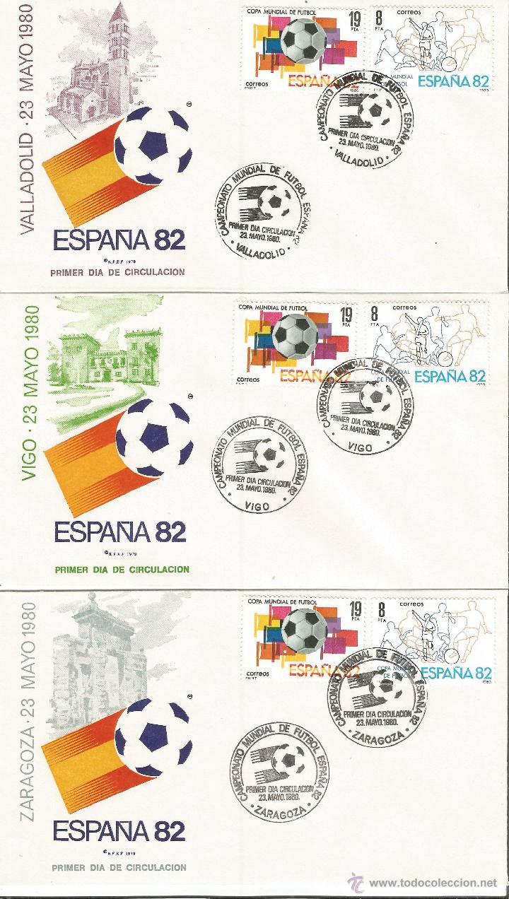 Sellos: ESPAÑA SOBRES PRIMER DIA CAMPEONATO MUNDIAL DE FUTBOL ESPAÑA 82 CON MATASELLOS DE TODAS LAS SEDES - Foto 5 - 50638877