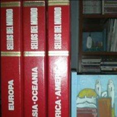 Sellos: ENCICLOPEDIA , GRAN COLECCION SELLOS DEL MUNDO , 3 TOMOS , 101 HOJAS , COMPLETAS. Lote 34497763