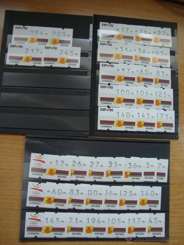 Sellos: LOTE ATMS AÑO 1992 NUEVOS SIN CHARNELAS - Foto 3 - 192565901