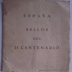 Sellos: ALBUM DE SELLOS DEL II CENTENARIO. Lote 53865574