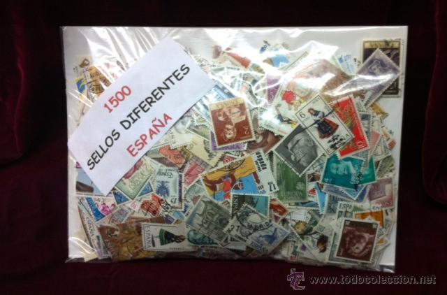 1500 SELLOS USADOS DE ESPAÑA (Sellos - Colecciones y Lotes de Conjunto)