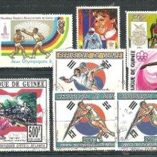 Sellos: REPÚBLICA DE GUINEA - DEPORTES - LOTE 54. Lote 54863171
